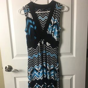Black & Blue Maxi Dress By Enfocus Studio Size 4